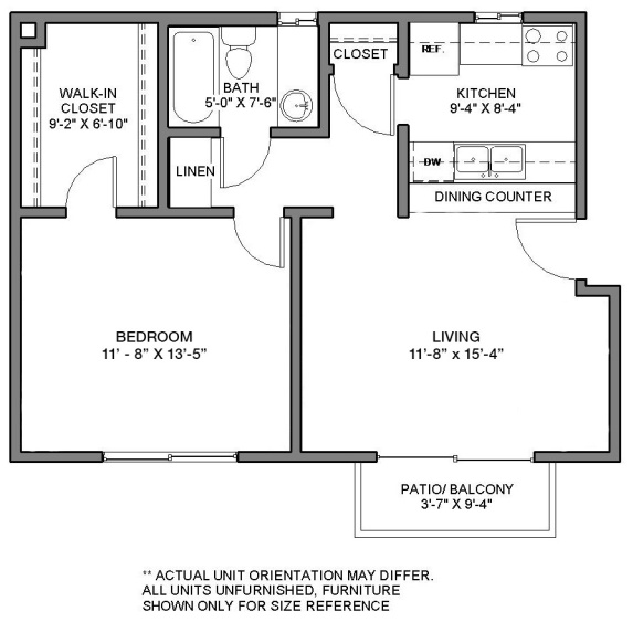 Gaines St-1 BED UNIT_unfurnished