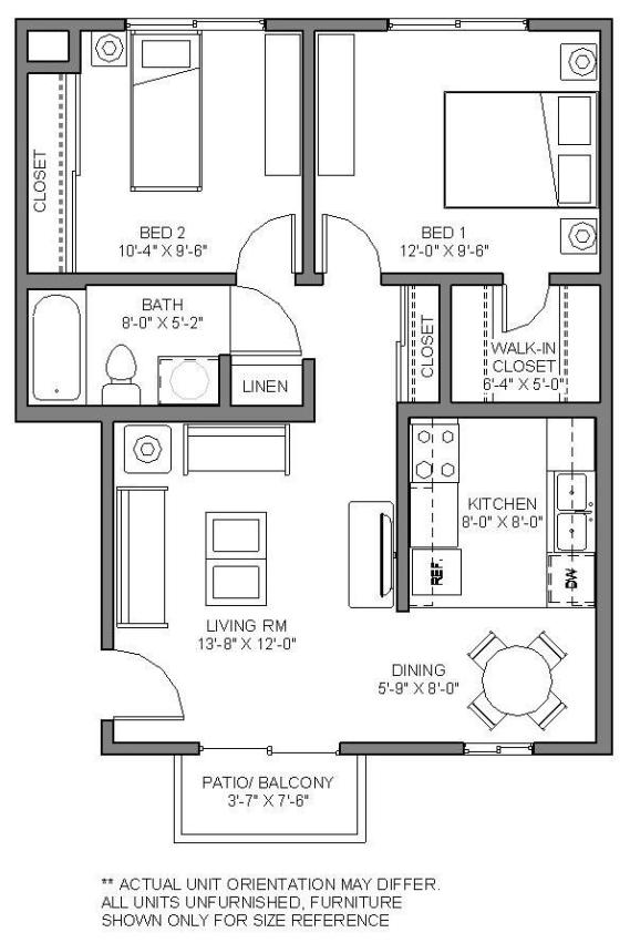 Gaines St-2 BED UNIT
